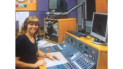 Claudia Hammond in a radio studio