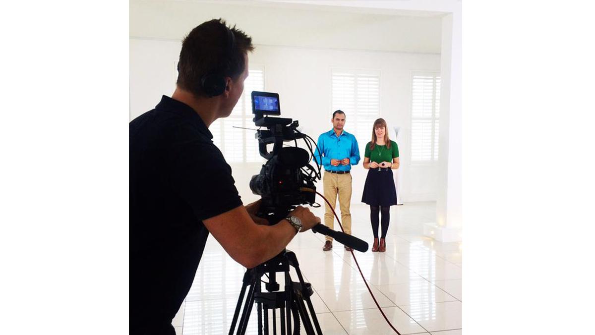 Claudia filming