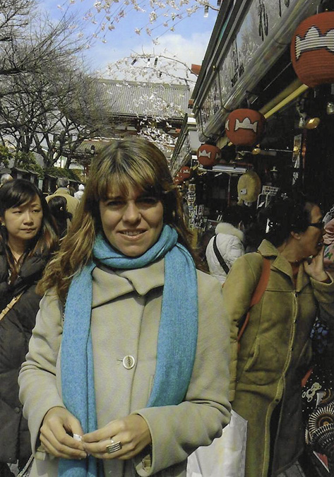 Claudia on a busy Tokyo street