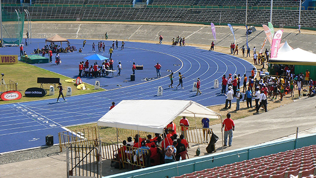 A Jamaican athletics stadium