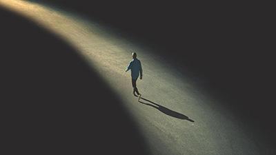 A lone figure
