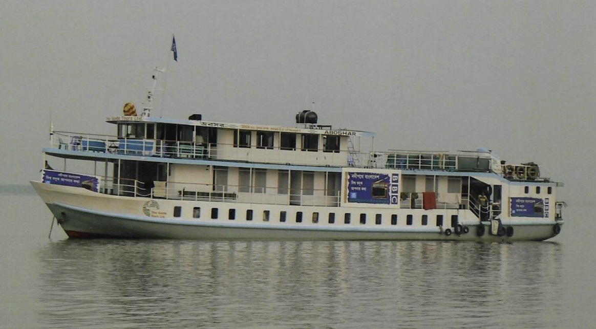 The boat used for Health Check in Bangladesh