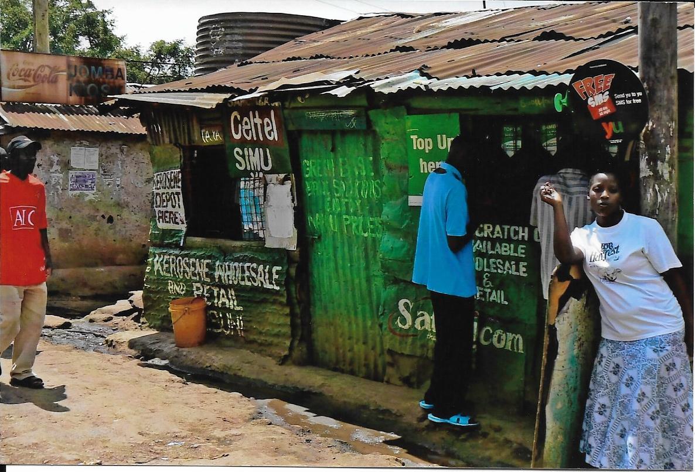 A Kenyan shanty town